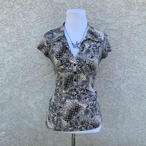 Cefina patterned blouse